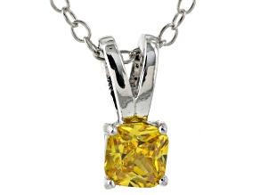 Bella Luce® .47ct Diamond Simulant Rhodium Over Silver Pendant With Chain