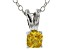 Bella Luce® .47ct Diamond Simulant Rhodium Over Silver Pendant With Chain