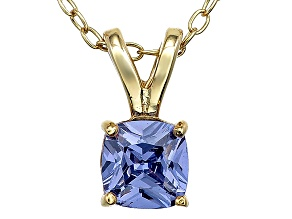 Bella Luce® .86ct Tanzanite Simulant 18k Gold Over Silver Pendant With Chain