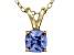 Bella Luce® .86ct Tanzanite Simulant 18k Gold Over Silver Pendant With Chain
