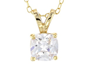 Bella Luce® 1.40ct Diamond Simulant 18k Gold Over Silver Pendant With Chain
