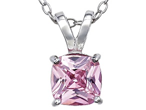 Bella Luce® 1.56ct Diamond Simulant Rhodium Over Silver Pendant With Chain