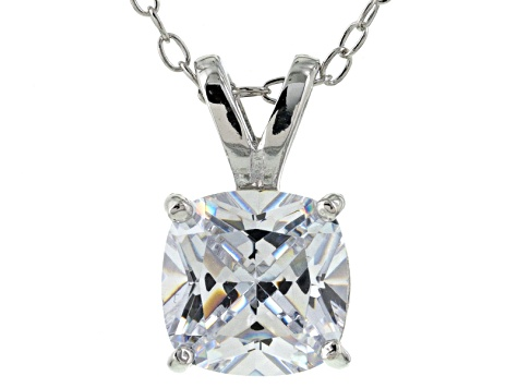Bella Luce® 2.40ct Diamond Simulant Rhodium Over Silver Pendant With Chain