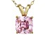 Bella Luce® 2.66ct Diamond Simulant 18k Gold Over Silver Pendant With Chain