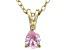 Bella Luce® .50ct Diamond Simulant 18k Gold Over Silver Pendant With Chain