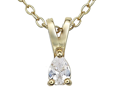 Bella Luce® .23ct Diamond Simulant 18k Gold Over Silver Pendant With Chain