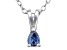Bella Luce® .21ct Tanzanite Simulant Rhodium Over Silver Pendant With Chain
