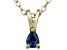 Bella Luce® .21ct Tanzanite Simulant 18k Gold Over Silver Pendant With Chain