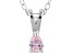 Bella Luce® .28ct Pink Diamond Simulant Rhodium Over Silver Pendant With Chain