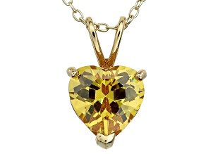 Bella Luce® 4.31ct Diamond Simulant 18k Gold Over Silver Pendant With Chain