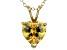 Bella Luce® 4.31ct Diamond Simulant 18k Gold Over Silver Pendant With Chain