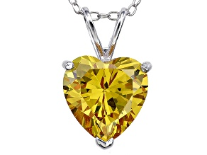Bella Luce® 6.18ct Diamond Simulant Rhodium Over Silver Pendant With Chain