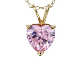 Bella Luce® 4.44ct Diamond Simulant 18k Gold Over Silver Pendant With Chain