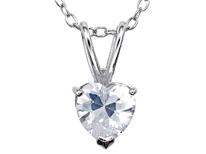 Bella Luce® 1.20ct Diamond Simulant Rhodium Over Silver Pendant With Chain