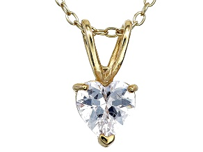 Bella Luce® 1.20ct Diamond Simulant 18k Gold Over Silver Pendant With Chain