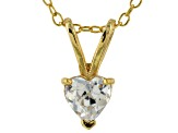 Bella Luce® .72ct Diamond Simulant 18k Gold Over Silver Pendant With Chain