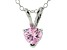 Bella Luce® .76ct Pink Diamond Simulant Rhodium Over Silver Pendant With Chain