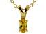 Bella Luce® .31ct Diamond Simulant 18k Gold Over Silver Pendant With Chain