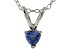 Bella Luce® .42ct Tanzanite Simulant Rhodium Over Silver Pendant With Chain