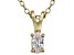 Bella Luce® .35ct Diamond Simulant 18k Gold Over Silver Pendant With Chain