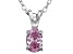 Bella Luce® .65ct Pink Diamond Simulant Rhodium Over Silver Pendant With Chain