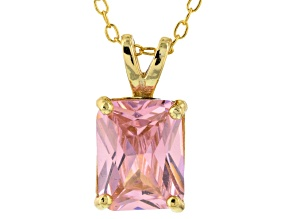 Bella Luce® 3.60ct Pink Diamond Simulant 18k Over Silver Pendant With Chain