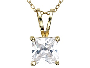 Bella Luce® 3.70ct Diamond Simulant 18k Gold Over Silver Pendant With Chain