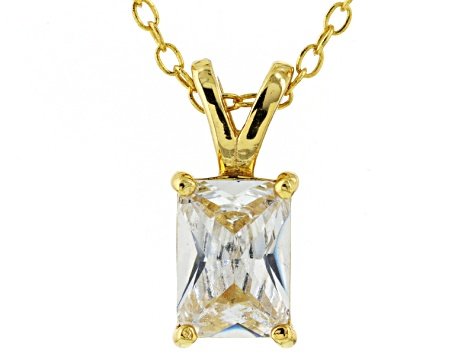 Bella Luce® 1.50ct Diamond Simulant 18k Gold Over Silver Pendant With Chain