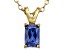 Bella Luce® .78ct Tanzanite Simulant 18k Gold Over Silver Pendant With Chain