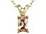 Bella Luce® .88ct Diamond Simulant 18k Over Silver Pendant With Chain