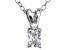 Bella Luce® .28ct Diamond Simulant Rhodium Over Silver Pendant With Chain