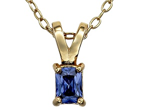 Bella Luce® .30ct Tanzanite Simulant 18k Gold Over Silver Pendant With Chain