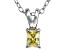 Bella Luce® .29ct Yellow Diamond Simulant Silver Pendant With Chain