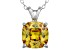 Bella Luce® 5.08ct Yellow Diamond Simulant Silver Pendant With Chain