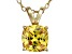 Bella Luce® 2.51ct Yellow Diamond Simulant 18k Over Silver Pendant With Chain