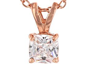 Bella Luce® .95ct Diamond Simulant 18k Gold Over Silver Pendant With Chain