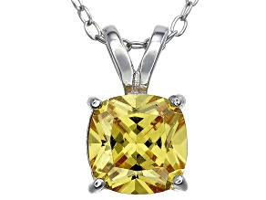Bella Luce® 2.51ct Yellow Diamond Simulant Silver Pendant With Chain