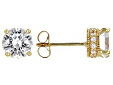 Cubic Zirconia 18k Yellow Gold Over Sterling Silver Earrings 3.59ctw