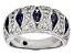 Lab Created Sapphire And Cubic Zirconia Platineve Ring 1.81ctw