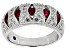 Lab Created Ruby And White Cubic Zirconia Platineve Ring 1.76ctw