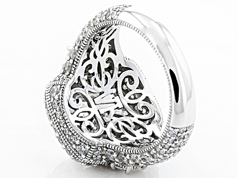 Womens Pave Custom Design Ring White Cubic Zirconia 14.37ctw Platineve