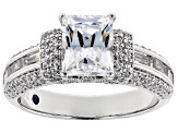 White Cubic Zirconia Platineve Womens Engagement Style Ring 6.09ctw
