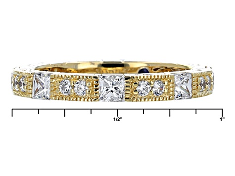 White Cubic Zirconia 18k Yellow Gold Over Silver Ring 2.69ctw