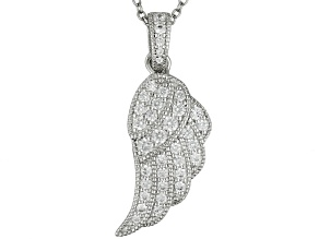 White Cubic Zirconia Platineve ™ Pendant With Chain  .95ctw