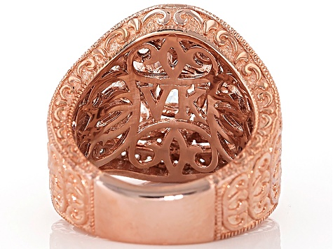 White Cubic Zirconia 18k Rose Gold Over Sterling Silver Ring 6.35ctw