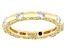 White Cubic Zirconia 18k Yellow Gold Over Sterling Silver Ring. 1.56ctw