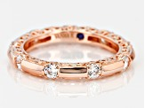 Cubic Zirconia 18k Rose Gold Over Silver Ring 1.56ctw