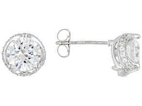 Cubic Zirconia Platineve Earrings 4.73ctw (2.78ctw DEW)