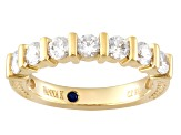 Cubic Zirconia 18k Yellow Gold Over Sterling Silver Band 1.26ctw