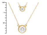 White Cubic Zirconia 18k Yellow Gold Necklace 3.09ctw